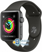 Apple Watch Series 3 42mm Space Grey Aluminum Case with Black Sport Band (MR362)