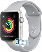 Apple Watch Series 3 42mm Silver Aluminum Case with Grey Sport Band (MQL02)