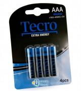 Tecro Extra Energy Alkaline AAA/LR03 BL 4 шт (LR03-4B(EE))