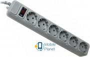 Gembird Power Cube 6 розеток 3м (SPG6-G-10G) серый