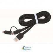 Дата кабель USB 2.0 AM to Lightning/Micro USB 1.0m Cablexpert (CC-USB2-AMLM2-1M)