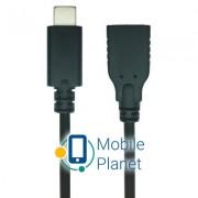 Дата кабель USB 2.0 Type C to AF 0.1m REAL-EL (EL123500017)