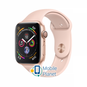 Apple Watch Series 4 (GPS) 44mm Gold Aluminum Case with Pink Sand Sport Band (MU6F2)