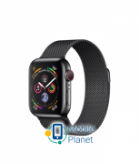 Apple Watch Series 4 (GPS Cellular) 40mm Black Steel Case with Black Milanese Loop (MTUQ2)