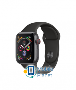 Apple Watch Series 4 (GPS Cellular) 40mm Space Gray Aluminum Case with Black Sport Band (MTVD2)