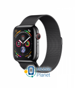Apple Watch Series 4 (GPS Cellular) 44mm Black Steel Case with Black Milanese Loop (MTV62)