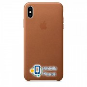 Аксессуар для iPhone Apple Leather Case - Saddle Brown (MRWV2) for XS Max