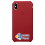 Аксессуар для iPhone Apple Leather Case - PRODUCT RED (MRWQ2) for XS Max