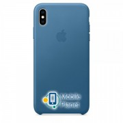 Аксессуар для iPhone Apple Leather Case - Cape Cod Blue (MTEW2) for XS Max