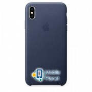 Аксессуар для iPhone Apple Leather Case - Midnight Blue (MRWU2) for XS Max