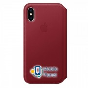Аксессуар для iPhone Apple Leather Folio PRODUCT RED (MRWX2) for XS