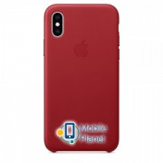 Аксессуар для iPhone Apple Leather Case PRODUCT RED (MRWK2) for XS