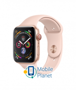 Apple Watch Series 4 (GPS Cellular) 44mm Gold Aluminum Case with Pink Sand Sport Band (MTV02)