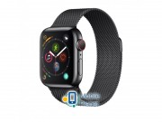 Apple Watch Series 4 (GPS Cellular) 44mm Space Black Stainless Steel Case with Black Milanese Loop (MTX32)