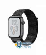Apple Watch Nike Plus Series 4 (GPS) 44mm Space Gray Aluminum Case with Black Nike Sport Loop (MU7J2)