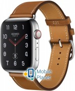 Apple Watch Hermes Series 4 (GPS Celluar) 40mm Stainless Steel Case with Fauve Barenia Leather Single Tour (MU6M2)