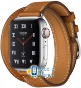 Apple Watch Hermes Series 4 (GPS Celluar) 40mm Stainless Steel Case with Fauve Barenia Leather Double Tour (MU6P2)