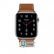 Apple Watch Hermes Series 4 (GPS Celluar) 44mm Stainless Steel Case with Fauve Barenia Leather Single Tour (MU6V2)
