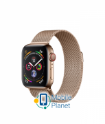 Apple Watch Series 4 (GPS Cellular) 40mm Gold Stainless Steel Case with Gold Milanese Loop (MTVQ2)