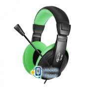 Гарнитура Gemix W-300 Black/Green (04300094)