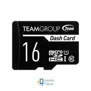 MicroSDHC 16GB UHS-I Class 10 Team Dash Card + SD-adapter (TDUSDH16GUHS03)