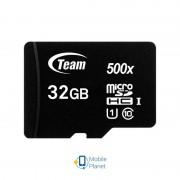 MicroSDHC 32GB UHS-I Class 10 Team Black (TUSDH32GCL10U02)