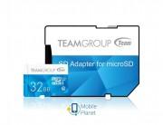 MicroSDHC 32GB UHS-I Team Color + SD-adapter Blue (TCUSDH32GUHS40)