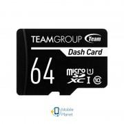 MicroSDXC 64GB UHS-I Class 10 Team Dash Card + SD-adapter (TDUSDX64GUHS03)