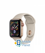 Apple Watch Series 4 (GPS Cellular) 40mm Gold Stainless Steel Case with Stone Sport Band (MTVN2)