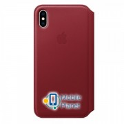 Аксессуар для iPhone Apple Leather Folio PRODUCT RED (MRX32) for XS Max