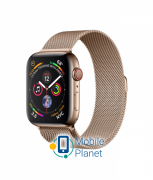 Apple Watch Series 4 (GPS Cellular) 44mm Gold Stainless Steel Case with Gold Milanese Loop (MTX52)