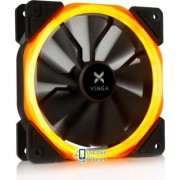 Кулер для корпуса Vinga LED fan-01 orange