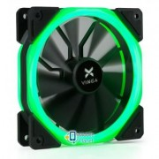 Кулер для корпуса Vinga LED fan-02 green