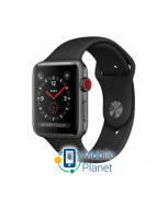 Apple Watch Series 3 (GPS Cellular) 42mm Gray Aluminum Case with Gray Sport Band (MTGT2)