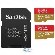 SANDISK 32GB microSD class 10 UHS-I U3 V30 A1 Extreme (SDSQXAF-032G-GN6AT)