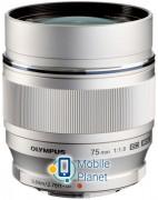 Объектив Olympus ET-M7518 75 мм 1:1.8 Silver (V311040SE000)