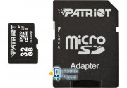 MicroSDHC 32GB UHS-I Class 10 Patriot LX + SD-adapter (PSF32GMCSDHC10)