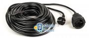 PowerPlant JY-3021/20 (PPEA10M200S1) 1 розетка, 20 м, черный