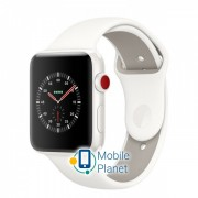 Apple Watch Edition Series 3 (GPS Cellular) 38mm White Ceramic Case with Soft White/Pebble Sport Band (MQM32)
