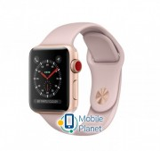Apple Watch Series 3 (GPS Cellular) 38mm Gold Aluminium Case with Pink Sand Sport Band (MQKH2)