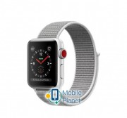 Apple Watch Series 3 (GPS Cellular) 38mm Silver Aluminum Case with Seashell Sport Loop (MQKJ2)