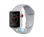 Apple Watch Series 3 (GPS Cellular) 38mm Silver Aluminum Case with Fog Sport Band (MQKF2)