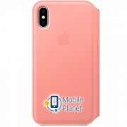 Аксессуар для iPhone Apple Leather Folio Soft Pink (MRGF2) for iPhone X