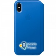 Аксессуар для iPhone Apple Leather Folio Electric Blue (MRGE2) for iPhone X