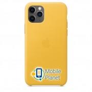 Аксессуар для iPhone Apple Leather Case Meyer Lemon (MWYA2) for 11 Pro