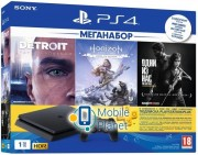 Sony PlayStation 4 Slim 1TB HZD Detroit The Last of Us PS3m UA