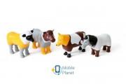 Пазл 3D детский магнитные животные POPULAR Playthings Mix or Match (корова, лошадь, овца, собака) (PPT-62001)