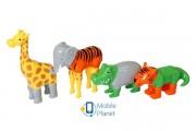 Пазл 3D детский магнитные животные POPULAR Playthings Mix or Match (тигр, крокодил, слон, жираф) (PPT-62000)