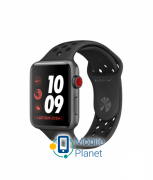 Apple Watch Nike Series 3 (GPS Cellular) 42mm Space Gray Aluminum Case with Anthracite/Black Nike Sport Band (MTGW2)