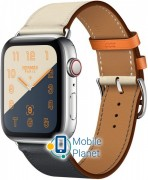 Apple Watch Hermes Series 4 (GPS Cellular) 44mm Stainless Steel Case with Indigo/Craie/Orange Swift Leather Single Tour (MU6X2)/(MU782)